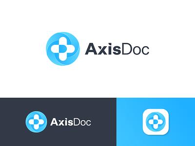 AxisDoc Logo Design medical medicine pharmacy health axis document doc doctors doctor logo design brand identity symbol icon brand minimal logodesign design branding logo