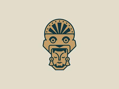 Aztec Logo Design aztecs lion antique aztec logo design brand identity symbol icon brand minimal logodesign design branding logo