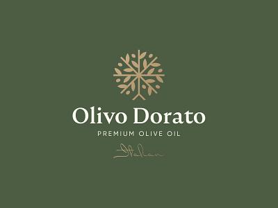 Olivo Dorato Logo Design olive tree olive oil olive logo design brand identity symbol icon brand minimal logodesign design branding logo