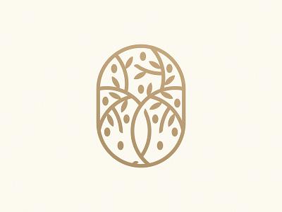 Olive Tree Logo Mark tree olive oil olive tree olive logo design brand identity symbol icon brand minimal logodesign design branding logo