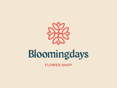 Bloomingdays Logo Design flower shop floral blooming bloom flower vector logo design brand identity symbol icon brand minimal logodesign design branding logo
