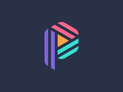 P Logo Mark geometric colorful logo mark p letter logo design brand identity brand minimal logodesign design branding logo