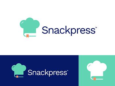 Snackpress Logo Design cook recipe cook chef hat chef vector logo design brand identity symbol icon brand minimal logodesign design branding logo