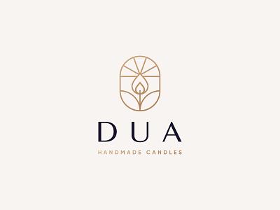 Dua Logo Design natural luxury aromatherapy candlelight candle logo design brand identity symbol icon brand minimal logodesign design branding logo