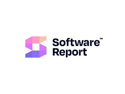 Software Report Logo Design mosaic pixels report software s letter simple logo design brand identity symbol icon brand minimal logodesign design branding logo