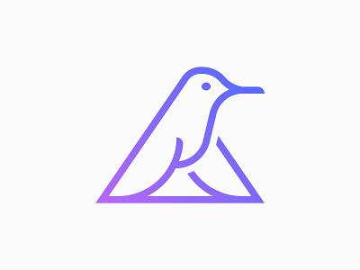 A Letter & Hummingbird Concept technology tech bird hummingbird brand minimal logodesign design branding logo