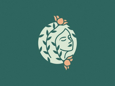 Woman & Flower Concept bloom nature green flower woman icon brand minimal logodesign design branding logo