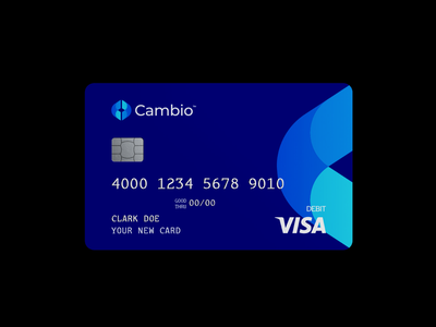 Cambio Card Design banking money print credit card brand minimal logodesign design branding logo