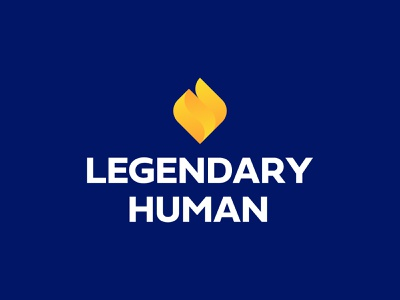 Legendary Human Logo Design light torch flame fire capital venture venture capital icon brand minimal logodesign design branding logo