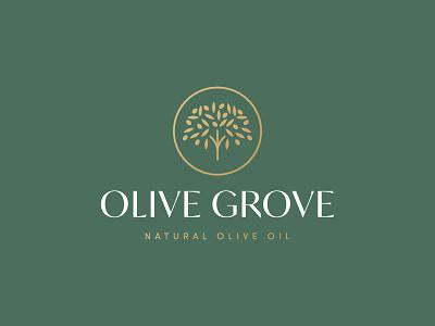 Olive Grove Logo Design premium green tree oil olive oil olive tree olive icon brand minimal logodesign design branding logo