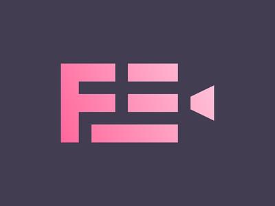 F & E & Movie Logo Mark e letter play f letter movie logo cinema logo film logo unused icon brand minimal logodesign design branding logo