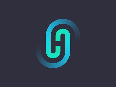 H Letter Logo Mark gradient h letter tech courier transformation icon brand minimal logodesign design branding logo