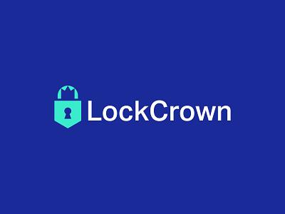 LockCrown Logo Design logo design key security safety crown lock brand minimal branding logo