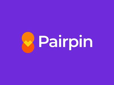 Pairpin Logo Design flirt app logo dating app match pin pair meet dating love icon brand minimal logodesign design branding logo