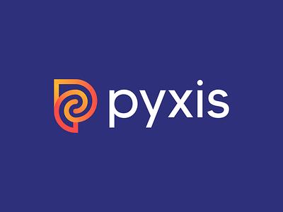 Pyxis Logo Design connected technology financial fintech p letter connect icon brand minimal logodesign design branding logo