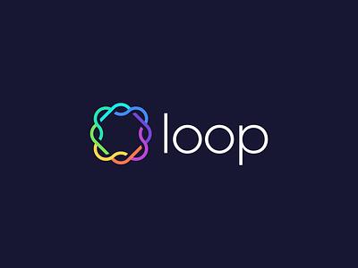 Loop Logo Design tech celtic knot loop technology financial fintech icon brand minimal logodesign design branding logo