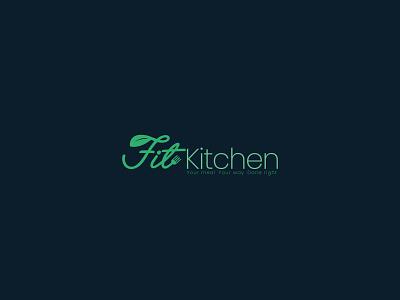 Fit Kitchen ikon vektör design logo food health