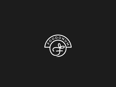 Foodonum ikon vektör design logo gift food