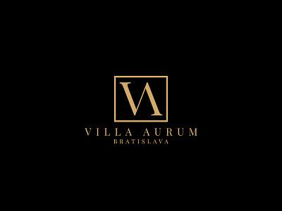 Villa Aurum Bratislava design logo business