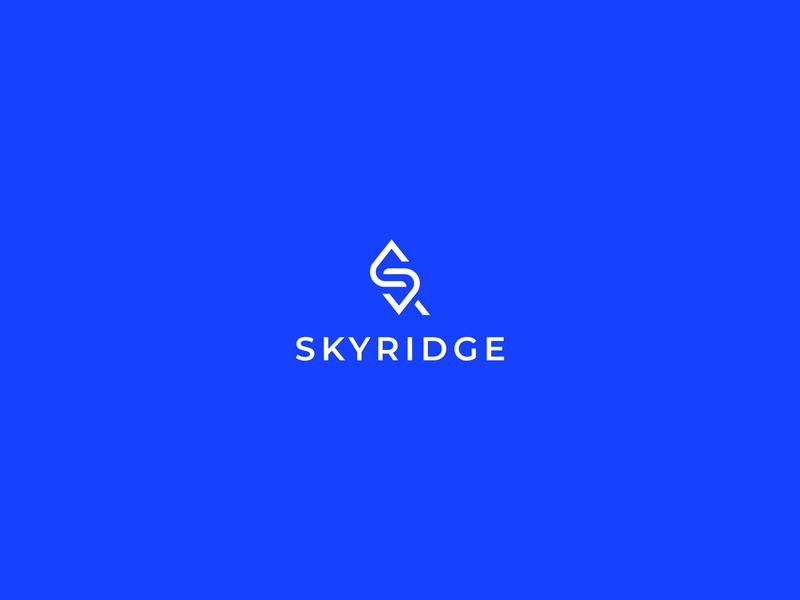 Skyridge Logo Design symbol real estate home ridge brand identity typography business vector logodesign brand icon branding minimal design logo