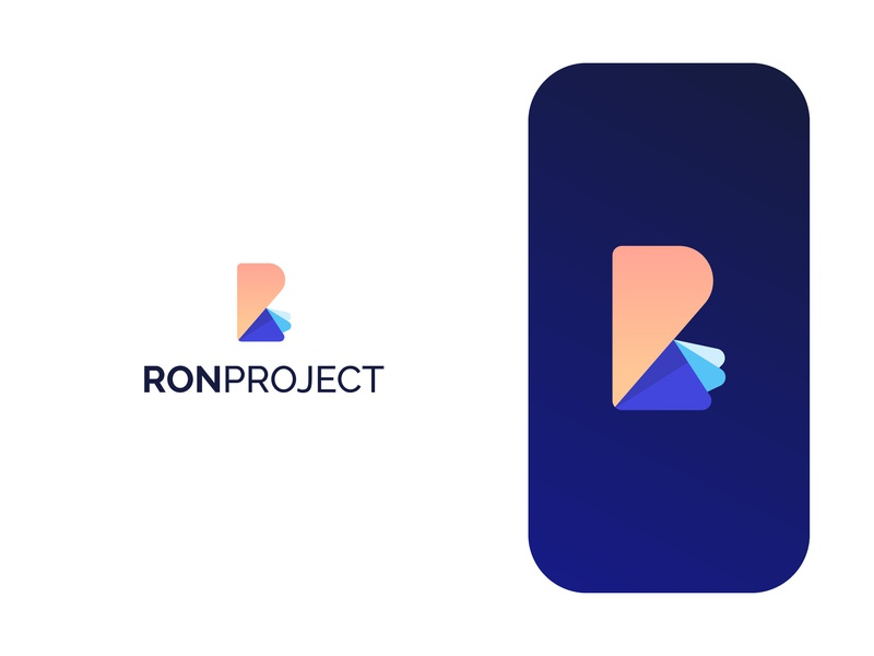 Ron Project layers project business typography logo design brand identity vector symbol minimal icon logodesign brand branding design logo