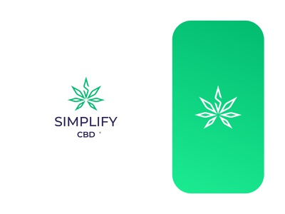 Simplify Cbd health green leaf s logo cannabis logo cannabis logo design brand identity vector symbol minimal icon logodesign brand branding design logo