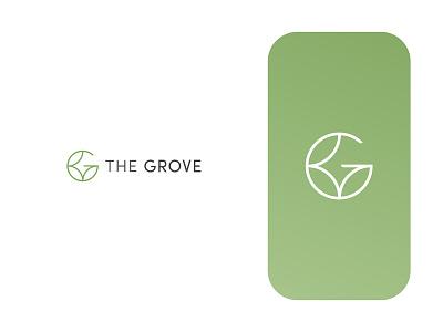 The Grove Logo Design nature green grove garden apartments leaf brand identity logodesign minimal symbol icon branding logo