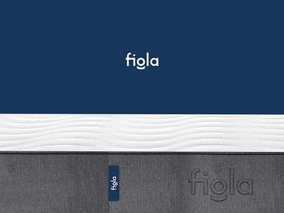 fiola print comfort relaxing mattress logo design brand identity minimal brand logodesign branding design logo