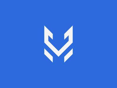 M + V + Fox Logo Design v letter m letter blue lettermark fox print logo design brand identity symbol icon minimal logodesign brand branding design logo