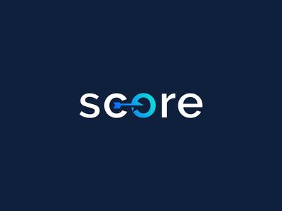 score logo design symbol business arrow target lettermark wordmark print minimal logodesign brand branding design logo