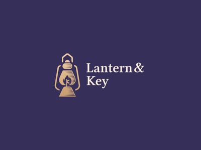Lantern & Key Logo Design logo design brand identity vintage key prit lantern symbol logodesign brand design logo branding