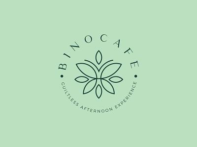 BUTTERFLY LOGO DESIGN health leaf green butterfly coffee tea cafe print minimal brand logodesign branding design logo