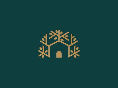 Tree + Home Logo Design green leaf house home tree print logo design brand identity symbol icon minimal brand logodesign branding design logo