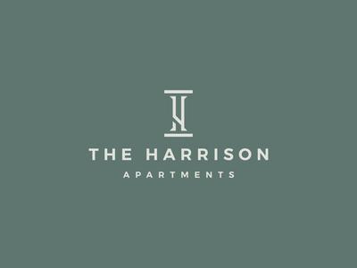 The Harrison apartments hotel print logo design brand identity symbol icon minimal brand logodesign branding design logo