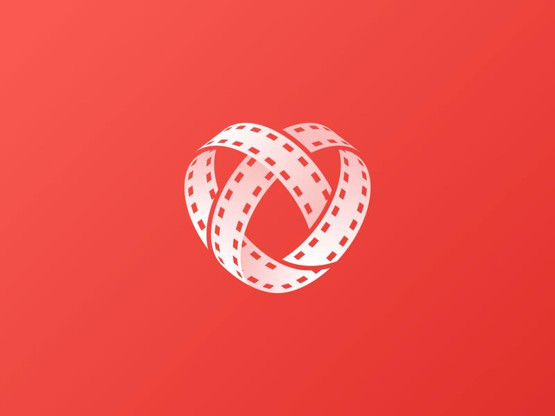 Cinema & Heart Logo Mark logo logodesign heart logo design symbol icon minimal branding design
