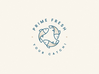 Fish Logo Design fresh sea food food sea fish print logo design brand identity symbol icon minimal brand logodesign branding design logo