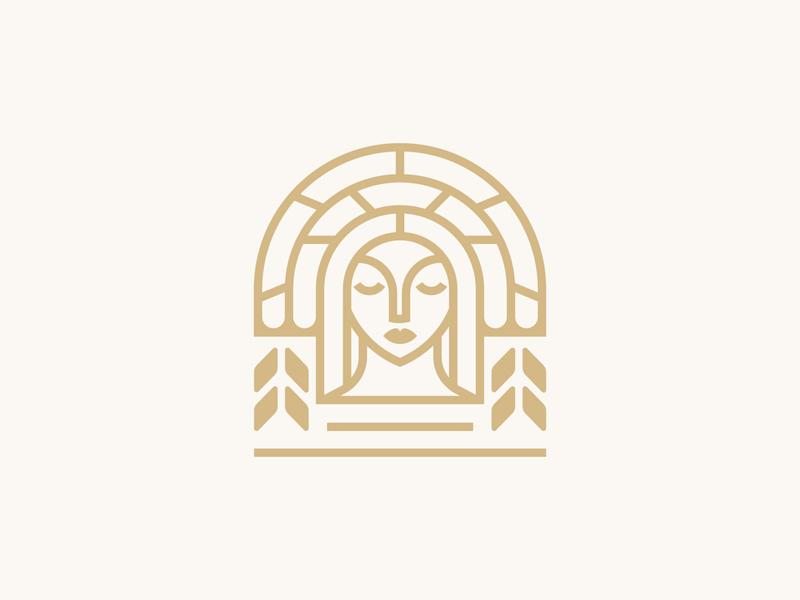 Goddess Concept woman gold beer brewery goddess vector illustration icon minimal brand logodesign branding design logo