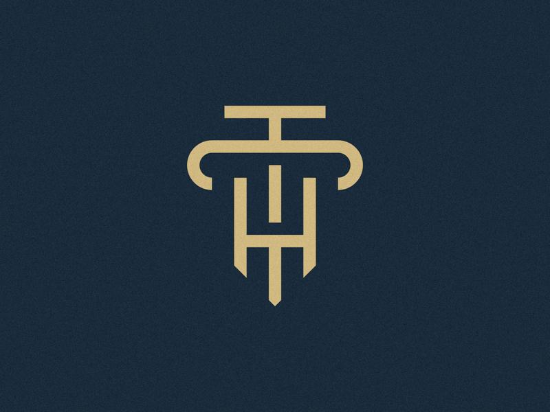 H & T Law Concept corporate law lawyer t letter h letter h t letter logo design brand identity symbol icon minimal brand logodesign branding design logo
