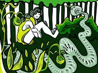 Sad Snake Girl
