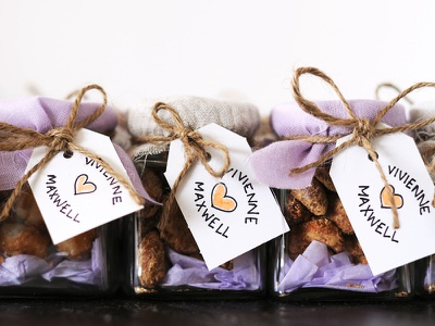 Wedding Favours organic nuts gifts wedding favours handmade twine