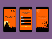 Concept of a Halloween party registration form