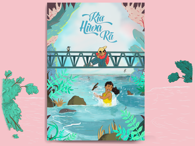 Kia Hiwa Ra - Large Shared Reader publishing book legend colour large format newzealand maori childrens book procreate characterdesign illustration