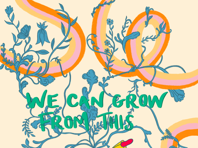 We Can Grown From This Pt.1 poster illustrator ai theatre raising procreate ink design characterdesign illustration