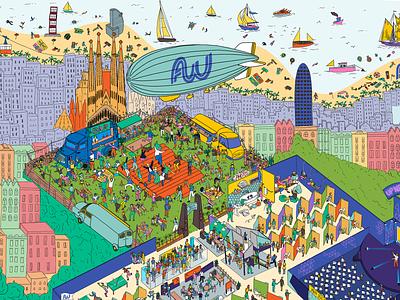 Affiliate World Conferences Poster vector animation design branding illustration