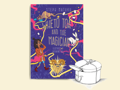Whetū Toa and the Magician by Steph Matuku publisher awards characterdesign cover design illustration childrens book