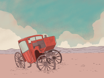 The Wanderer environment design artwork procreate illustration digital illustration