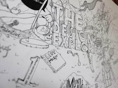 Ink Time explorer profile stages workflow work in progress sketch inking illustration