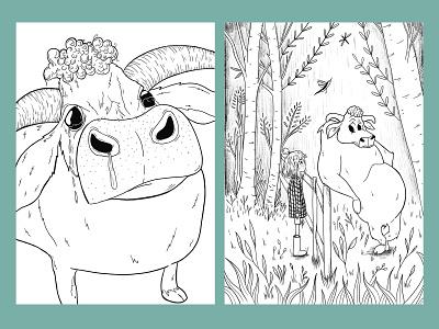 Meet the Bull adobe digital ink environments agents publishers childrensillustration childrens book illustration characterdesign