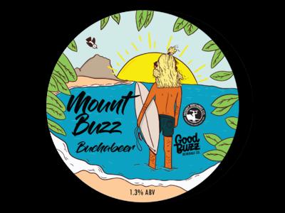Mount Buzz Bucha Beer Tap label