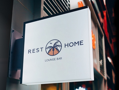 Rest Home — Lounge Bar Logotype
